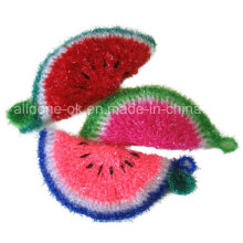 Krean Washing Cloth Hand Crochet Scrubbies Dish Scrubber Watermelon Style